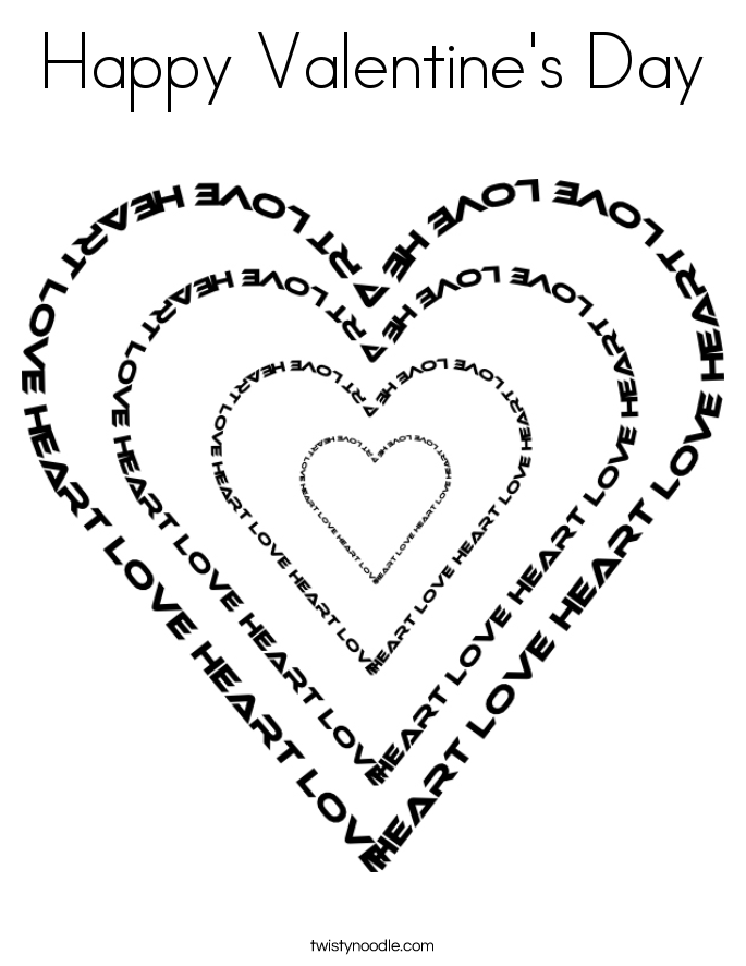 685x886 Valentine's Day Coloring Pages