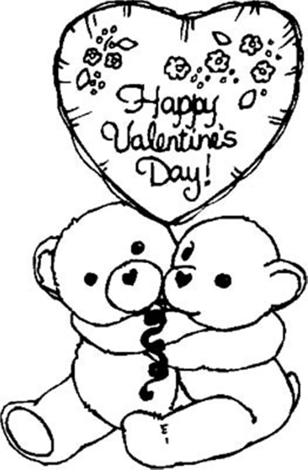 1221x1864 Valentines Day Coloring Pages Free Celebrations Coloring