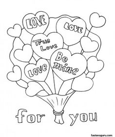 236x280 Free Valentine Coloring Pictures To Print Off Valentine's Day