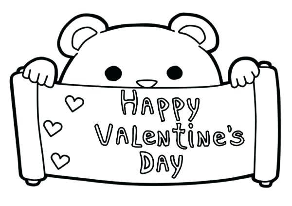 Happy Valentines Day Coloring Pages at GetDrawings.com ...