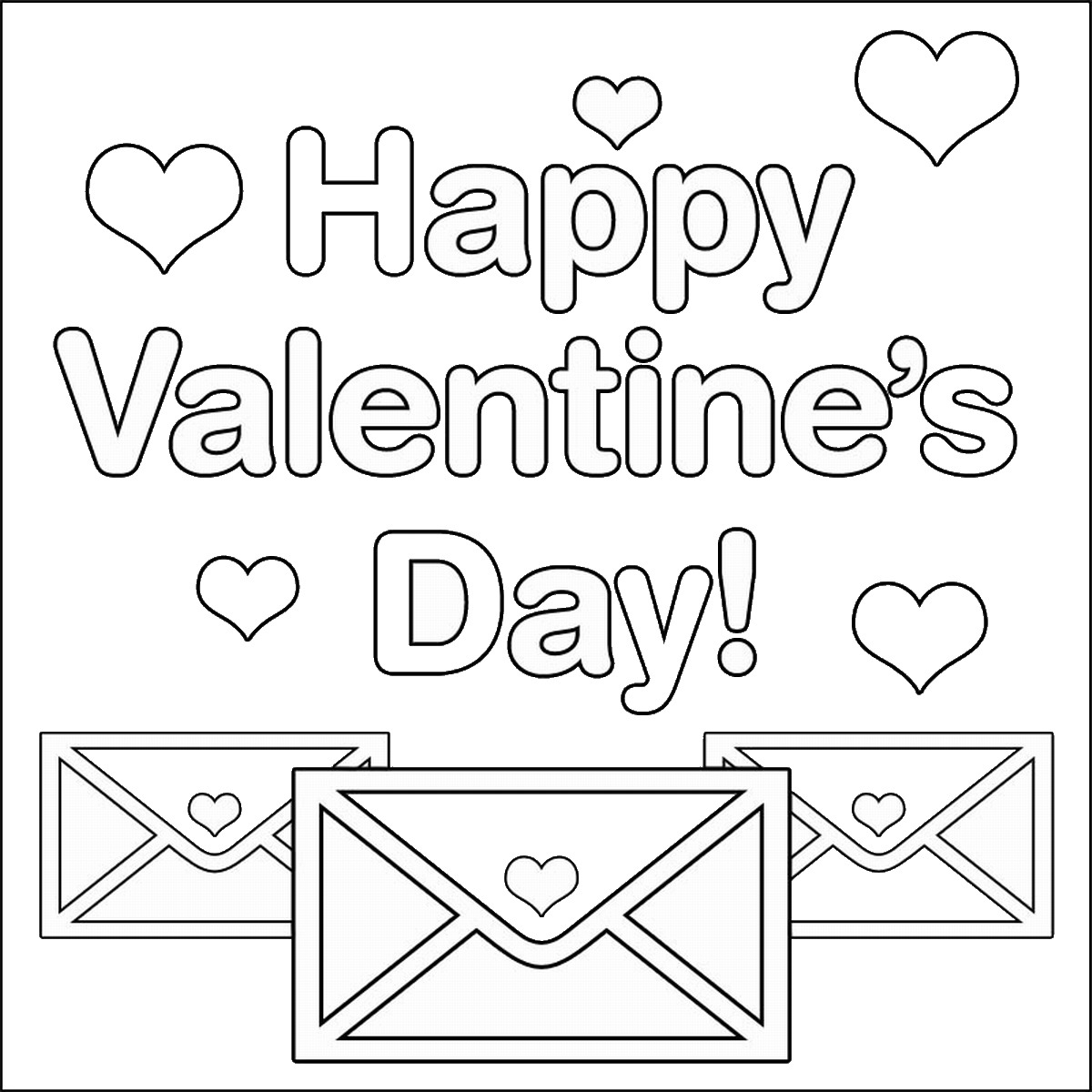 1200x1200 Valentine's Day Coloring Pages