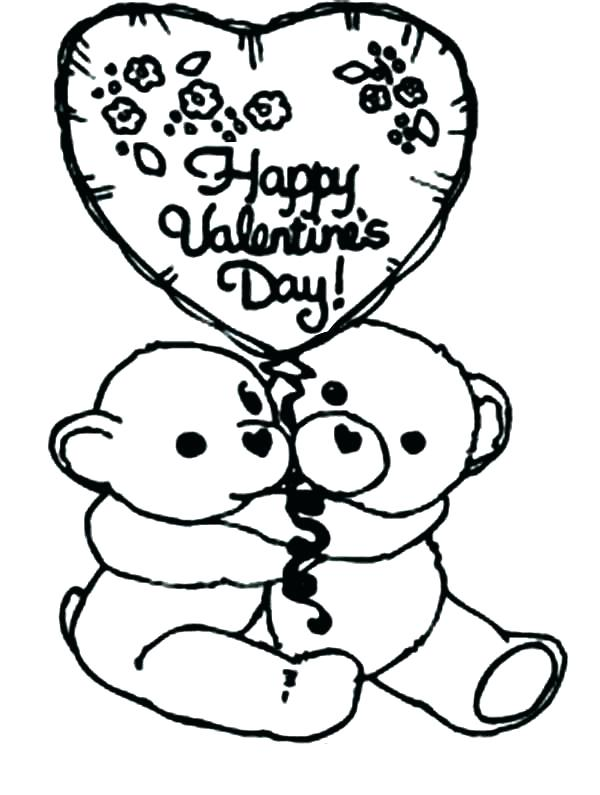 600x795 Valentine Day Coloring Pictures Roses Valentines Day Coloring