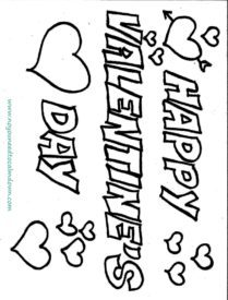 209x275 Happy Valentine's Day Coloring Page