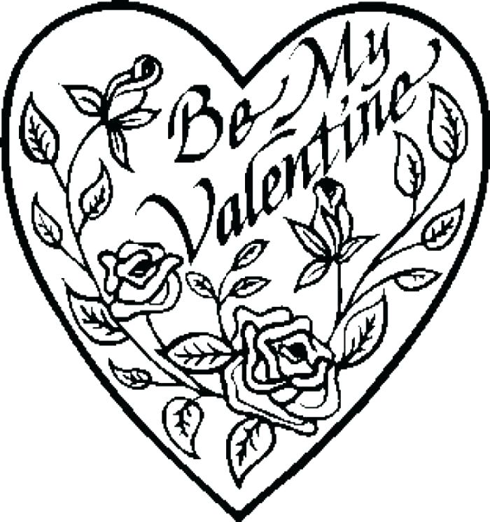 700x747 Happy Valentines Day Hearts Coloring Pages Valentine Color