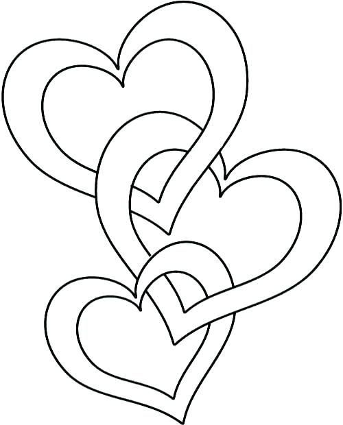 500x620 Heart Shaped Coloring Pages Free Coloring Happy Valentines Day