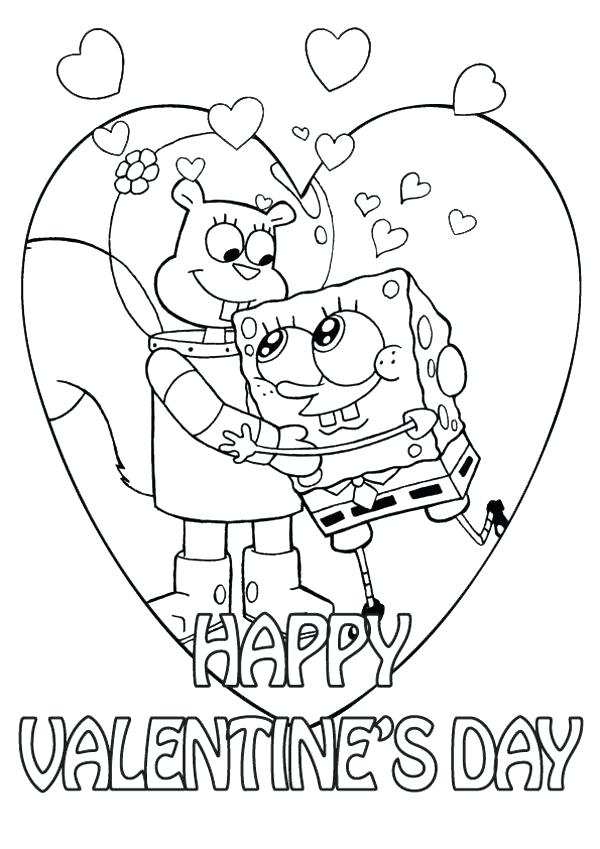 600x849 Printable Heart Coloring Pages Happy Valentines Day Hearts
