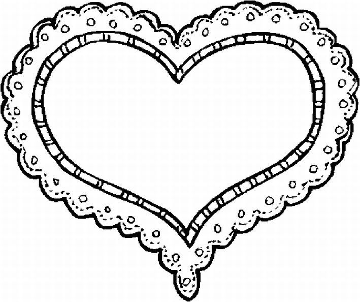 709x594 Valentine Heart Coloring Page