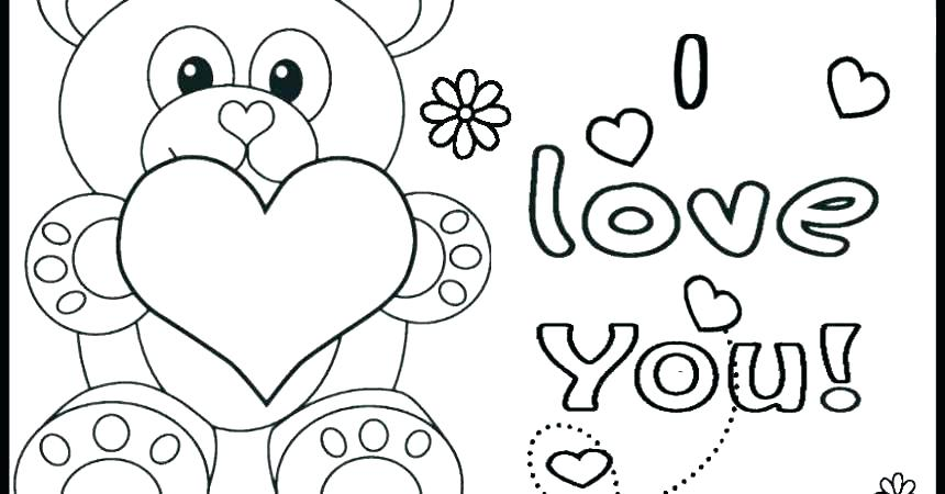 Happy Valentines Day Hearts Coloring Pages at GetDrawings ...