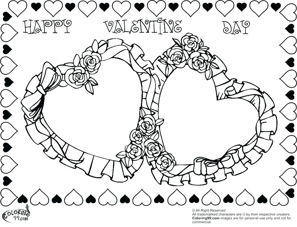 980x750 Valentine Hearts Coloring Pages Valentine S Day Heart Candy