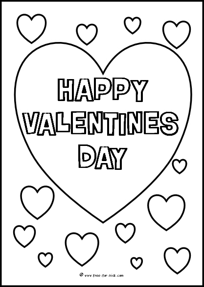 417x588 Valentines Day Colouring Sheets