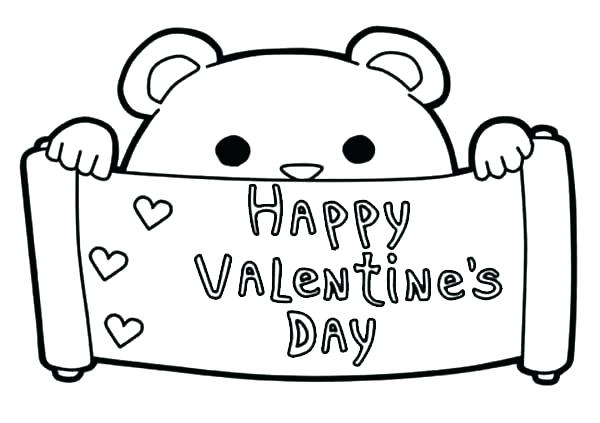600x423 Valentines Day Hearts Coloring Pages Happy Valentines Day Coloring