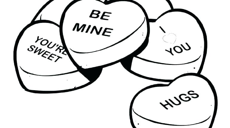 770x430 Coloring Pages Of Valentines Day Ing Happy Valentines Day Hearts