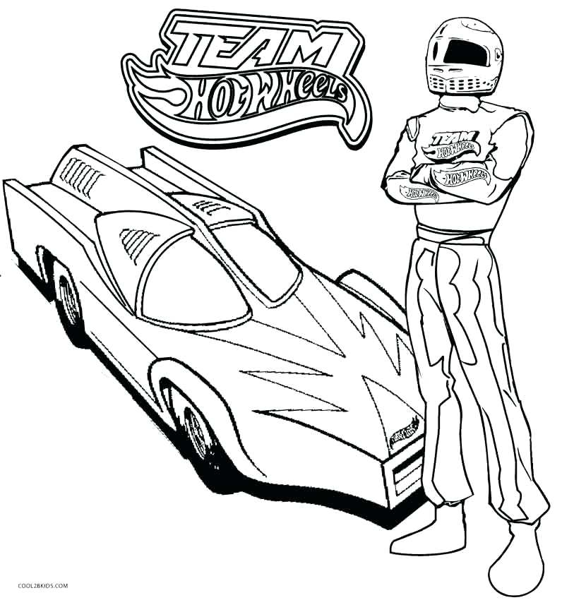 796x850 Printable Hot Wheels Coloring Pages For Kids Free