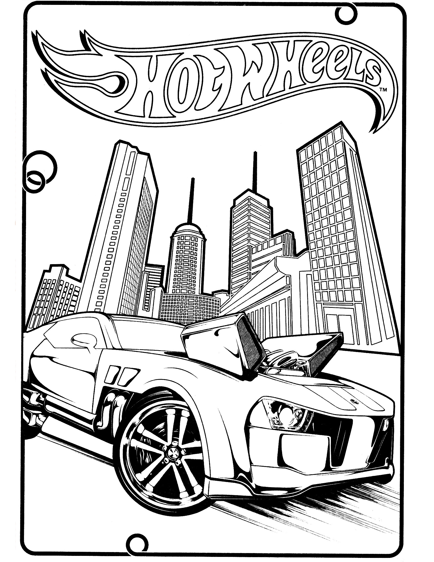 1700x2200 Printable Team Hot Wheels Coloring Pages School Free