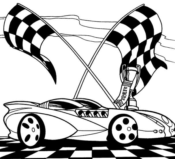 607x554 Race Car Coloring Pages