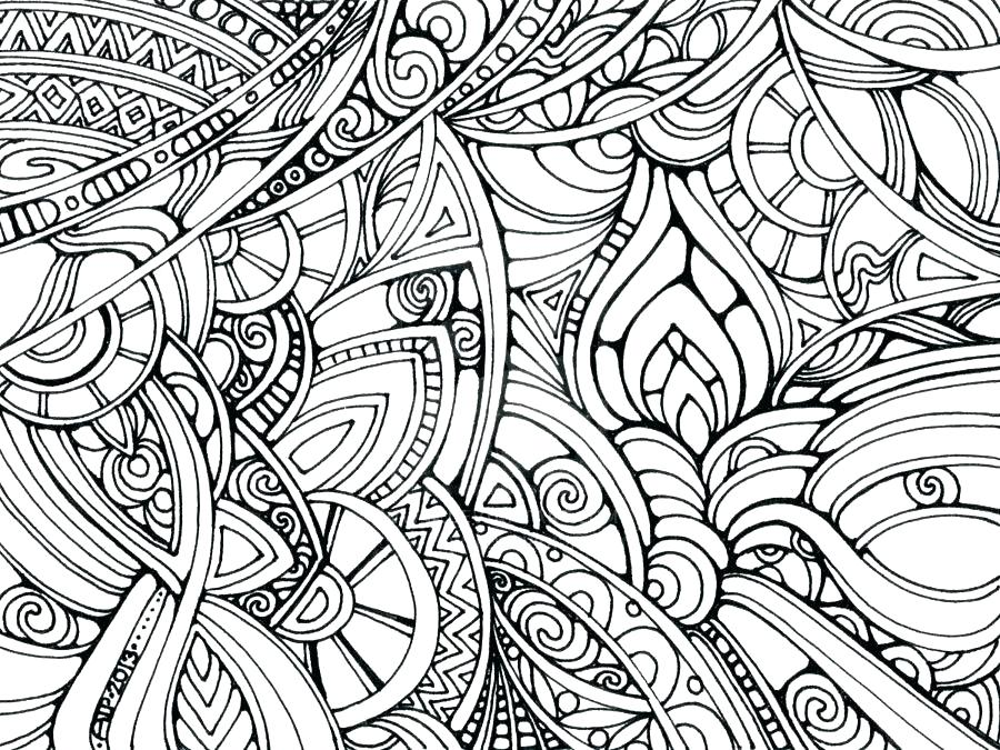 Hard Abstract Coloring Pages