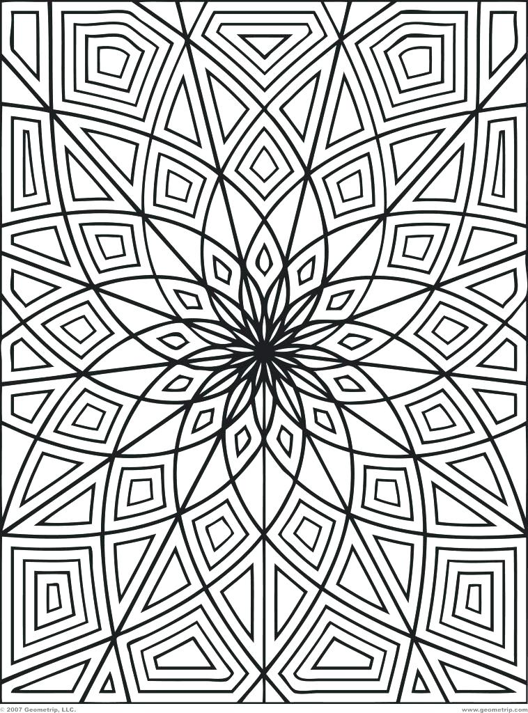 758x1024 Abstract Coloring Pages Printable Hard Abstract Coloring Pages