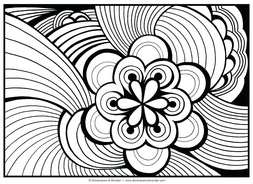 878x639 Free Printable Hard Abstract Coloring Pages Kids Coloring Free