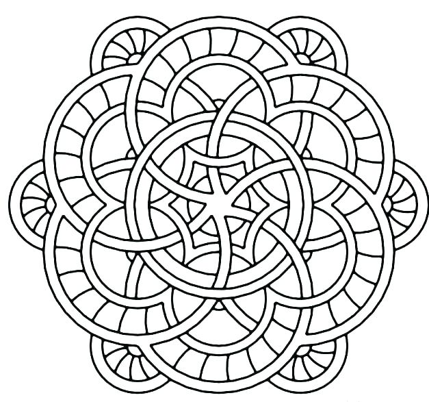 627x587 Free Printable Hard Abstract Coloring Pages Printable Coloring