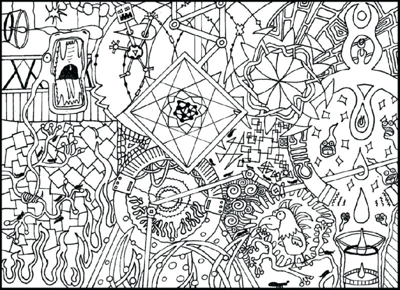 800x581 Super Hard Abstract Coloring Pages For Adults