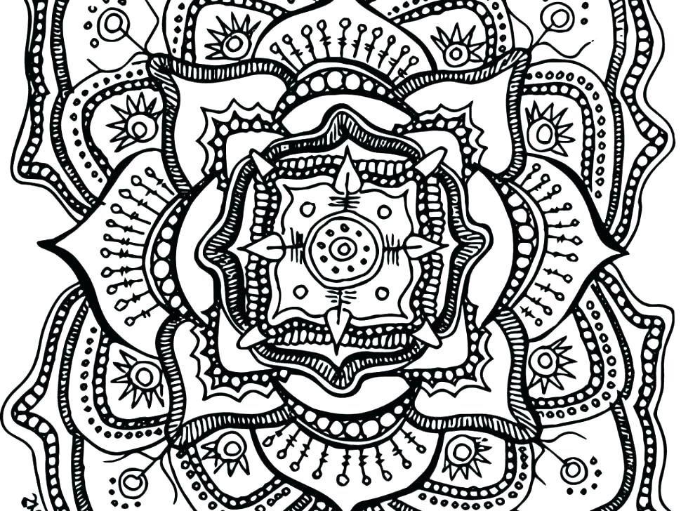 970x728 Coloring Pages For Adults Abstract