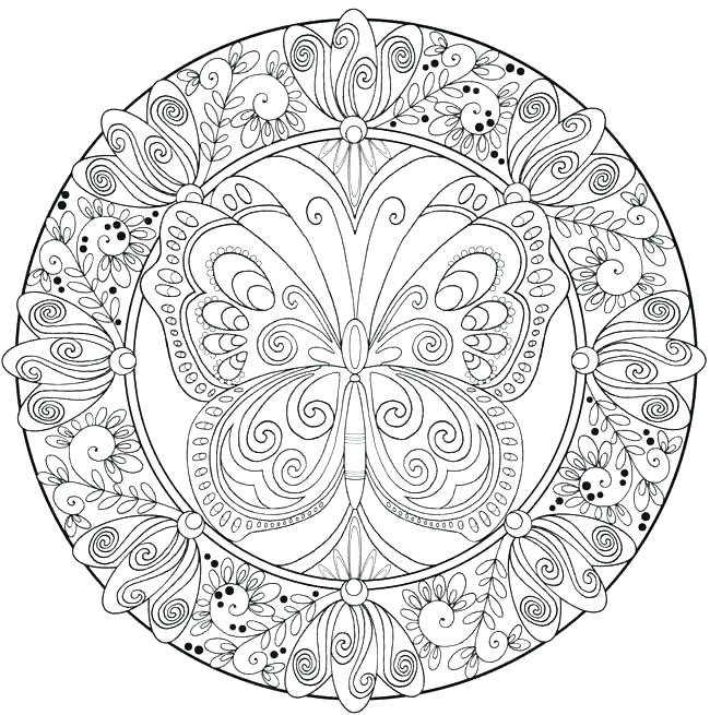 650x655 Hard Mandala Coloring Pages Hard Coloring Pages For Kids Mandala