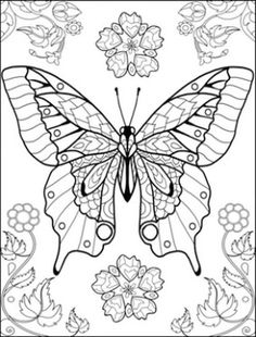 236x310 Hard Butterflies Coloring Pages For Adults To Print Butterfly