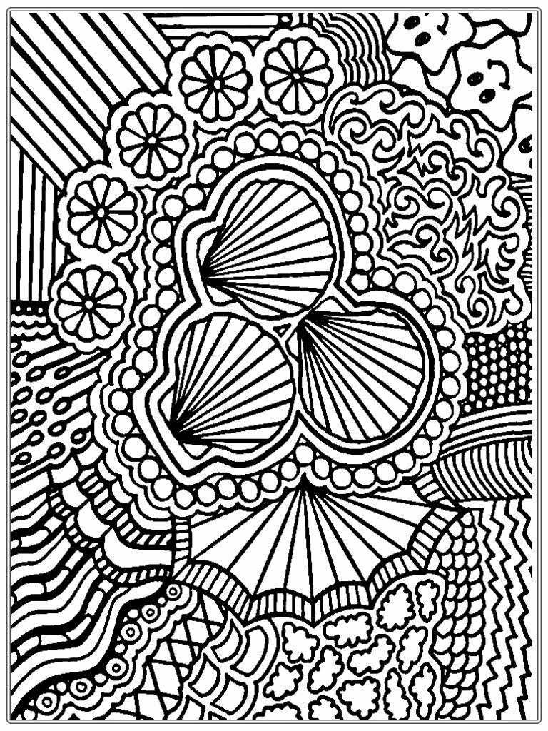 768x1024 Hard Coloring Pages Abstract For Adults