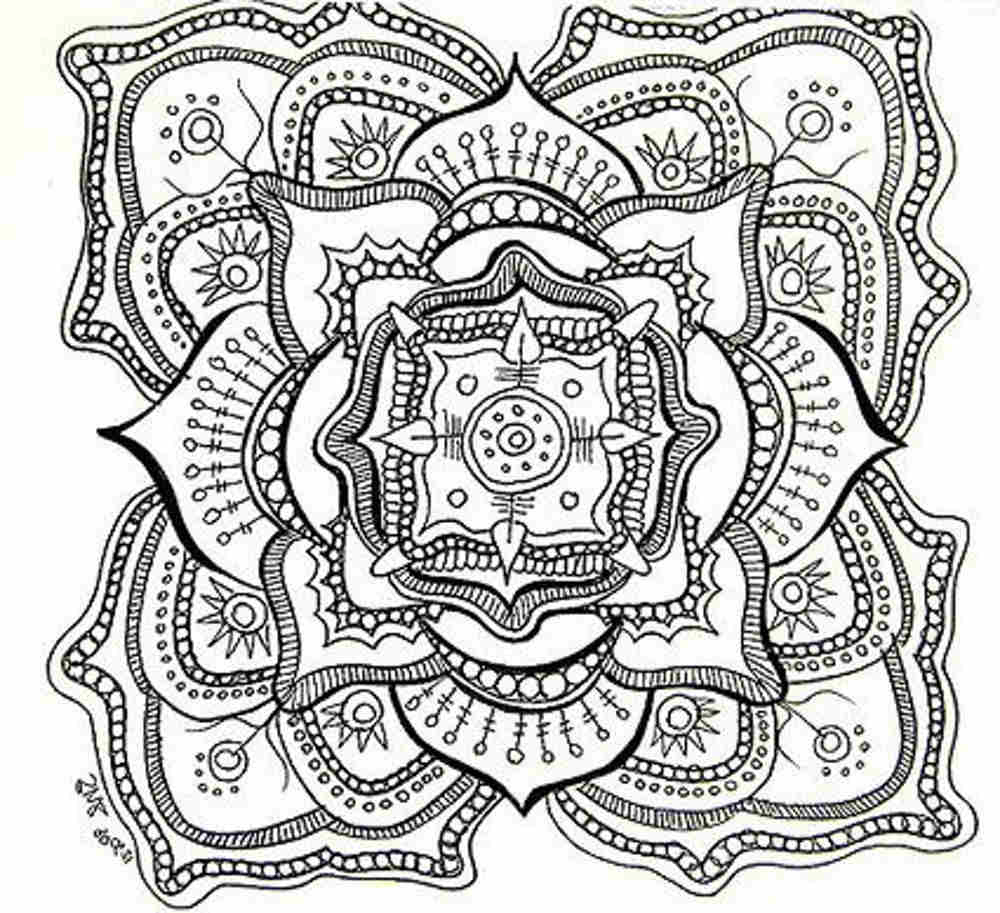 1000x913 Hard Coloring Pages For Adults Printable Kids Colouring Pages