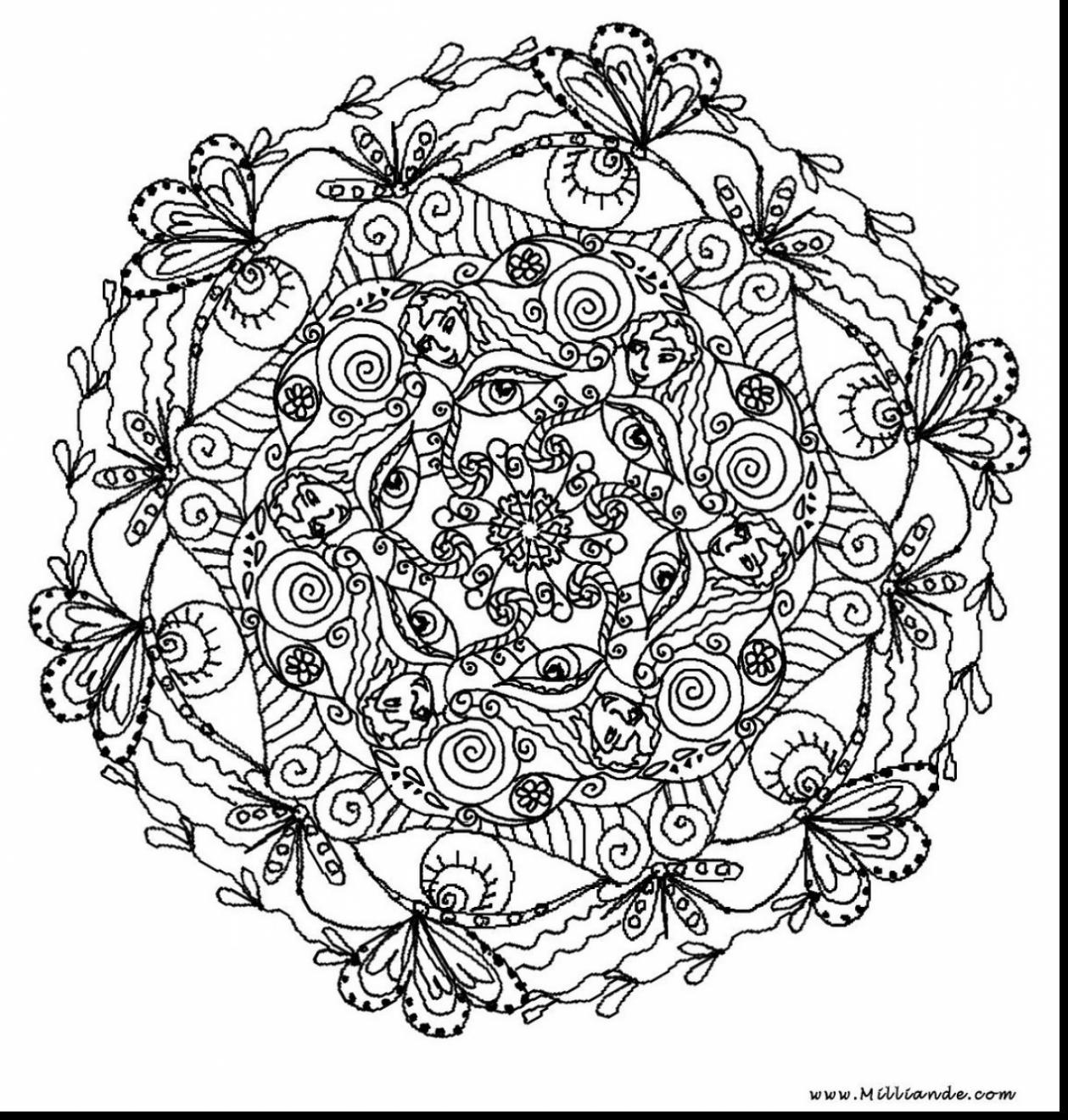 1259x1320 Magnificent Printable Mandala Coloring Pages Adults With Hard