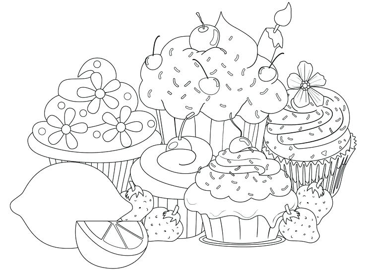 736x549 Hard Coloring Page Food Hard Coloring Pages For Girls Printable