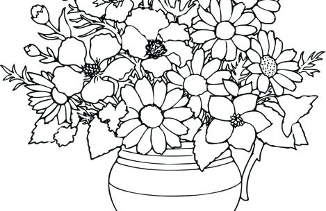 469x304 Hard Coloring Pages Of Flowers Flower Hard Coloring Pages