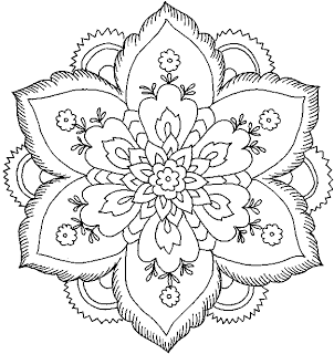 302x320 Hard Flower Coloring Pages