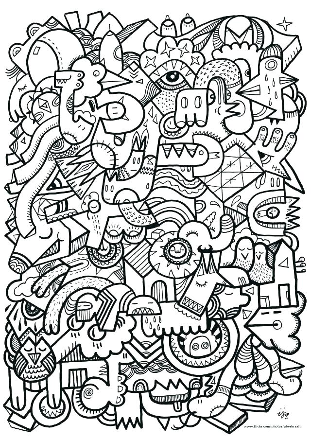 640x905 Difficult Coloring Pages For Teenagers