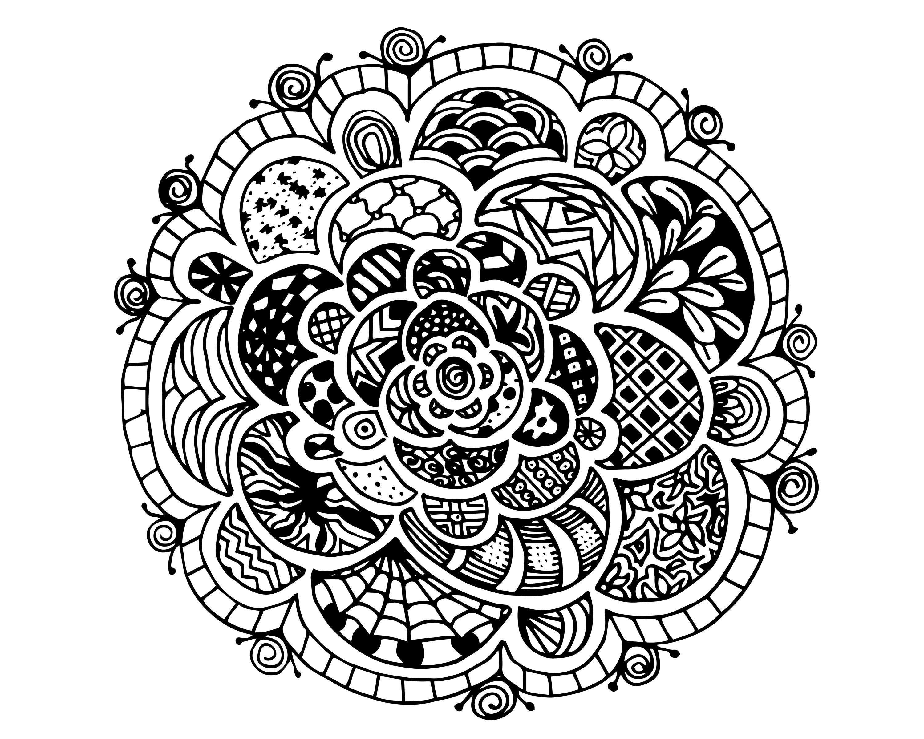 3000x2400 Hard Coloring Pages For Teens Color