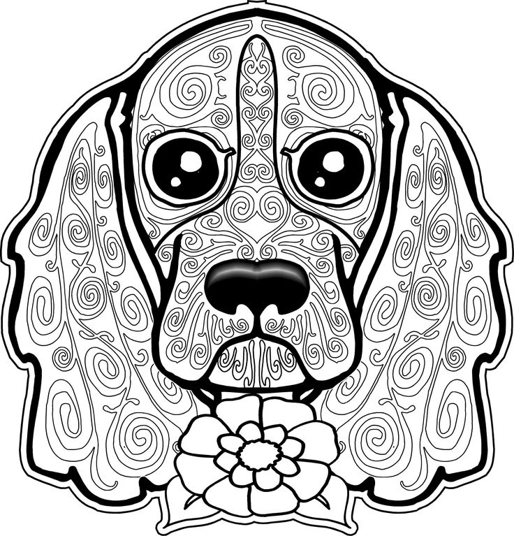 Hard Coloring Pages Of Dogs