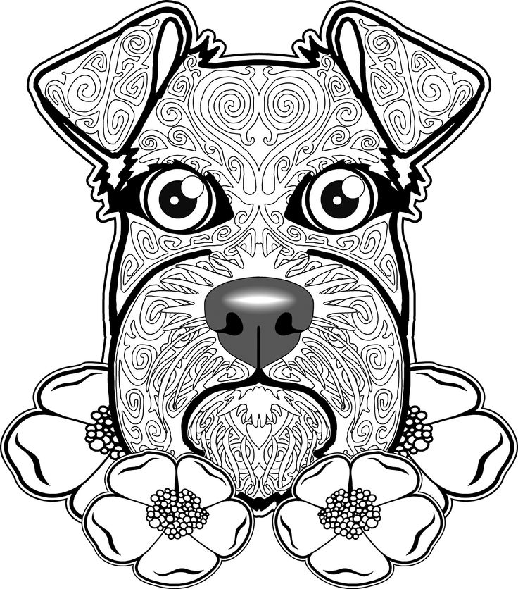 Hard Coloring Pages Of Dogs At Getdrawings Com Free For Personal