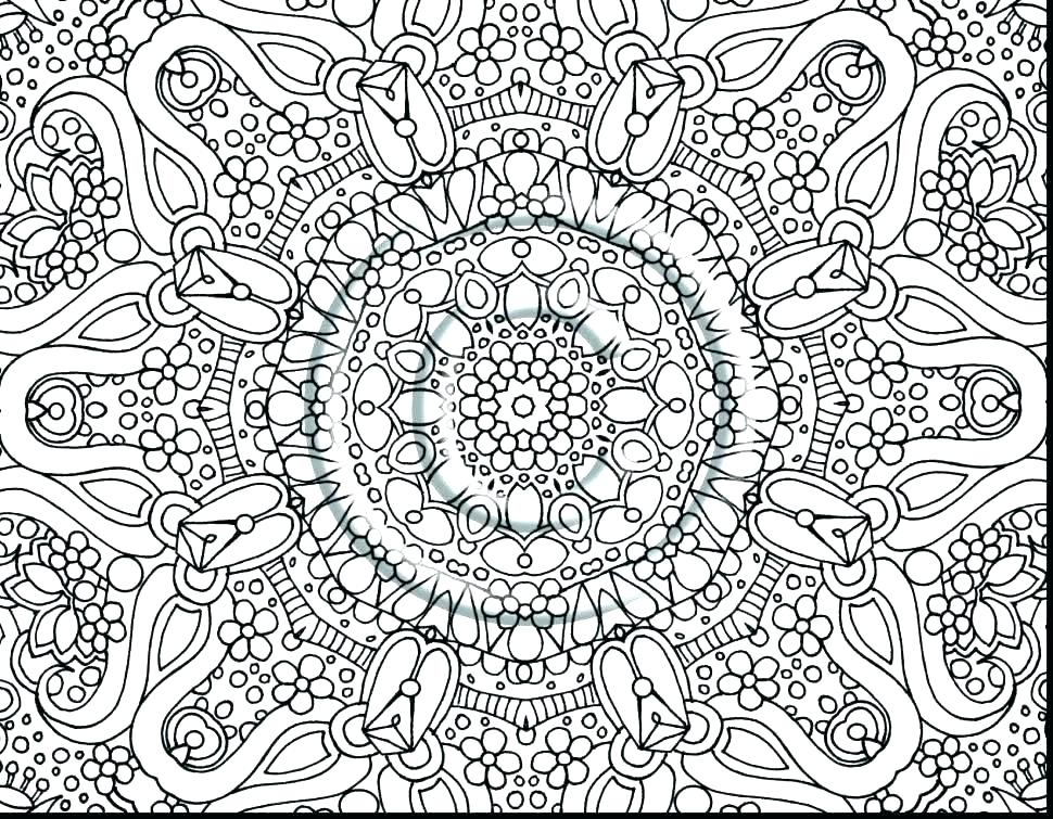 970x755 Hard Picture To Color Printable Hard Coloring Pages Hard To Color