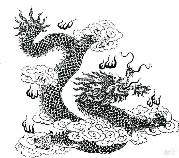 728x644 Dragon Coloring Pages Online Free Cool Dragons For Kids With Hard