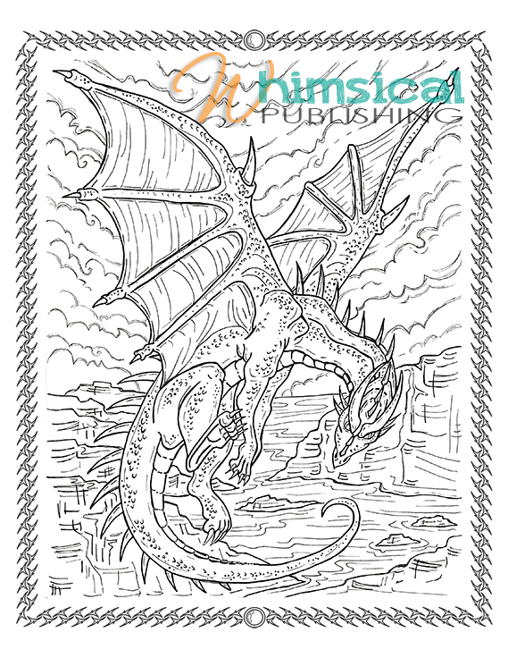569x736 Funky Coloring Pages Dragons Hard Inspiration