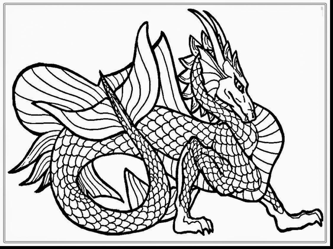 1126x844 Hard Dragon Head Coloring Pages Adorable Realistic