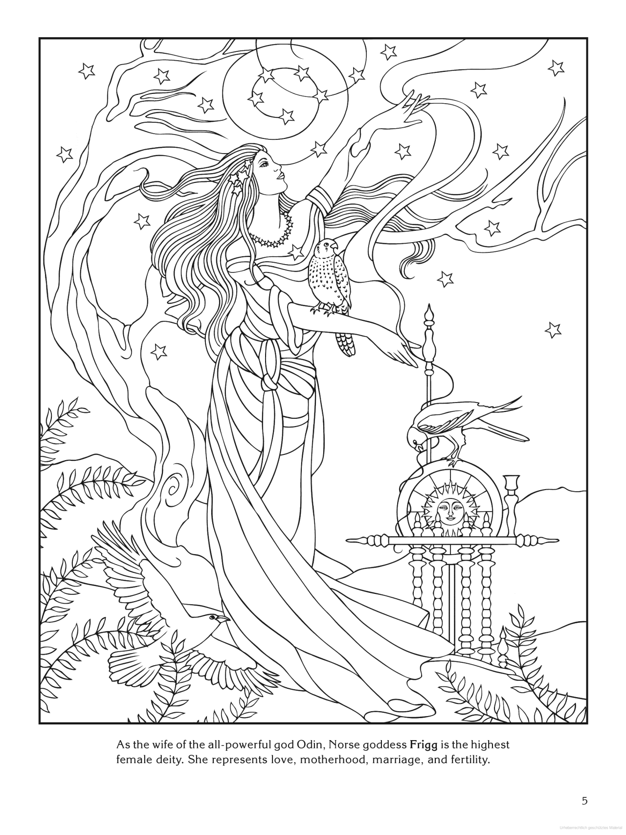 1280x1707 Goddess Coloring Page
