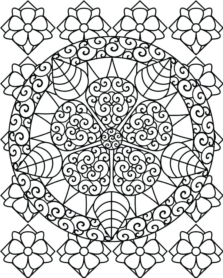 736x920 Hard Coloring Pages Printable Perfect Hard Flower Coloring Pages