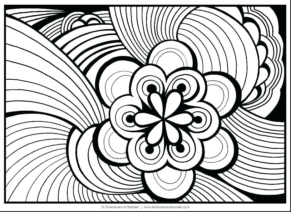932x678 Hard Coloring Pages To Print Abstract Coloring Pages To Print Hard