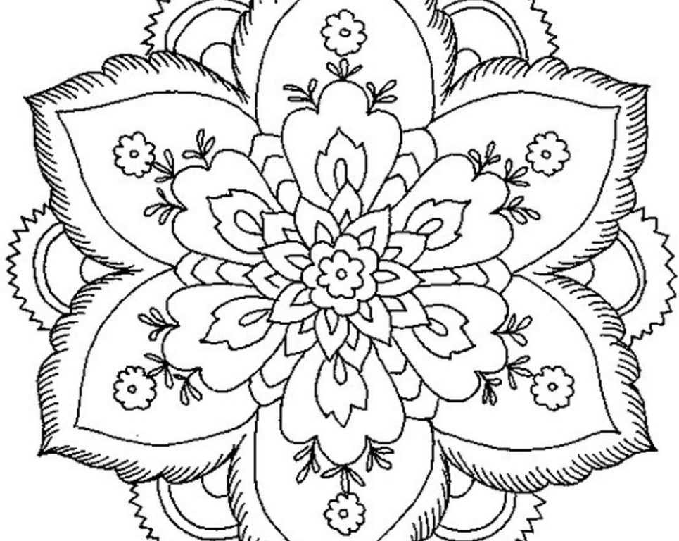 965x768 Clever Design Printable Difficult Coloring Pages Fabulous