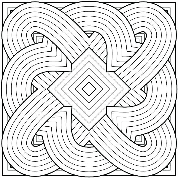 600x600 Hard Coloring Page