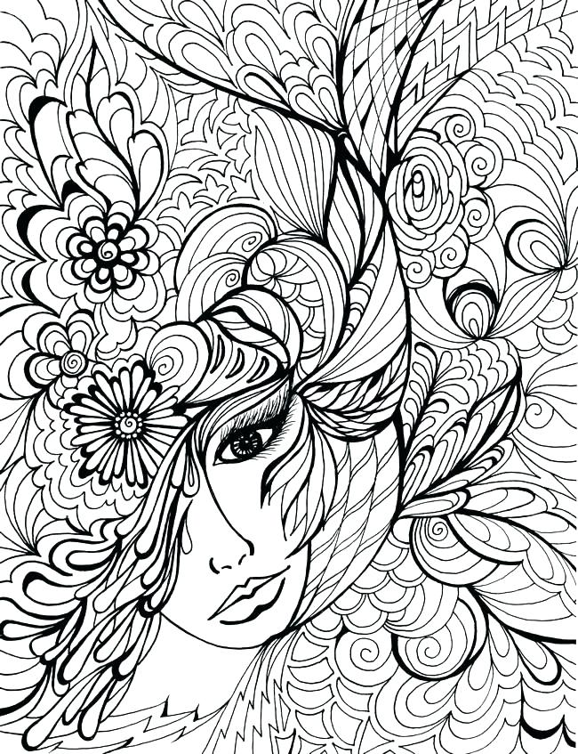 650x847 Hard Coloring Pictures