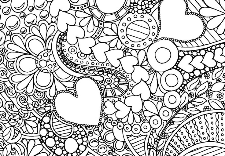 736x511 Epic Hard Coloring Pages Of Flowers On Coloring Print With Hard