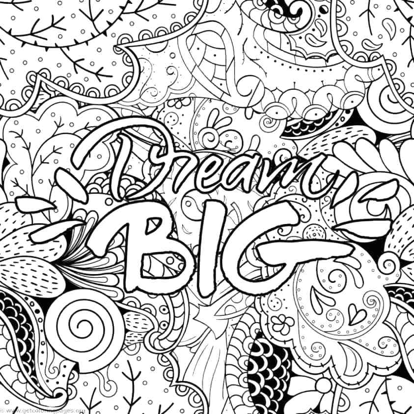 Hard Coloring Pages With Words At Getdrawings Free Download