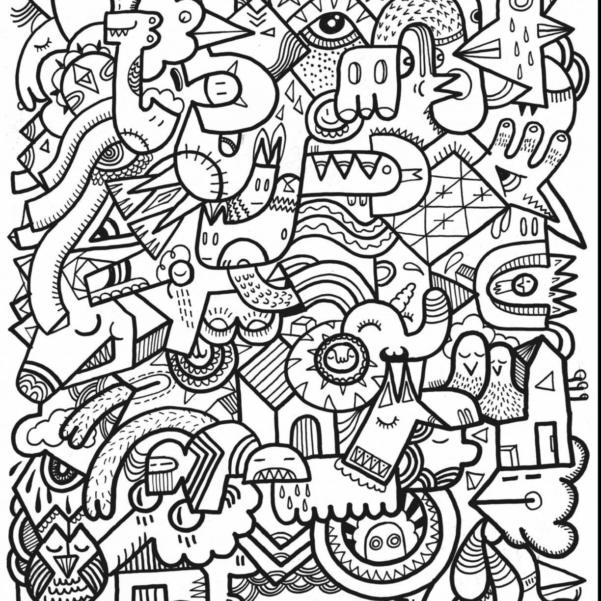 1224x1224 Complex Coloring Page Free Adult Printable Pages For Adults